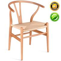 HUAAKE Solid Wood Dining Chair Wishbone Chair Rattan Armchair Y Chair