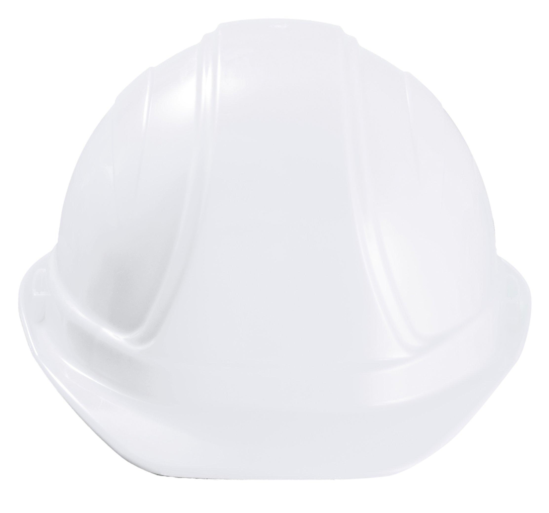 Occunomix V100-00 Regular Brim Hard Hat with Squeeze Lock Suspension, White