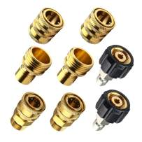 TBTeek Pressure Washer Adapter Set, Quick Disconnect Kit, M22 Swivel to 3/8 Inch Quick Connect, 3/4 Inch to Quick Release