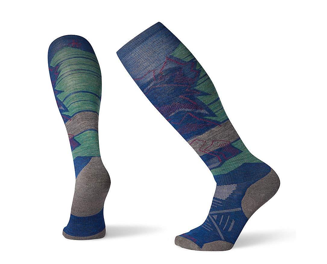 Smartwool PhD Outdoor Light Crew Socks - Ski Elite Pattern Wool Performance Sock