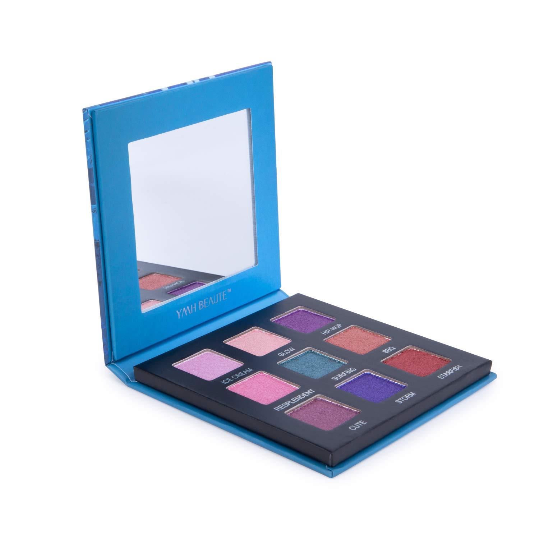 Highly Pigmented Eyeshadow Palette,YMH BEAUTE 9 Bright Colors Eye Shadow Palettes Matte Eyeshadow Makeup Palette Long Lasting Waterproof Colorful Cosmetics (Tropics)