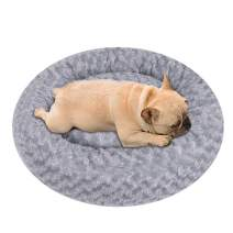 NIBESSER Calming Dog Bed, Donut Dog Bed, Plush Round Donut Cuddler Dog Bed Washable Dog and Cat Cushion Bed, Anti Anxiety, Comfortable Soft Pet Bed Sofa for Small Media Big Dog cat