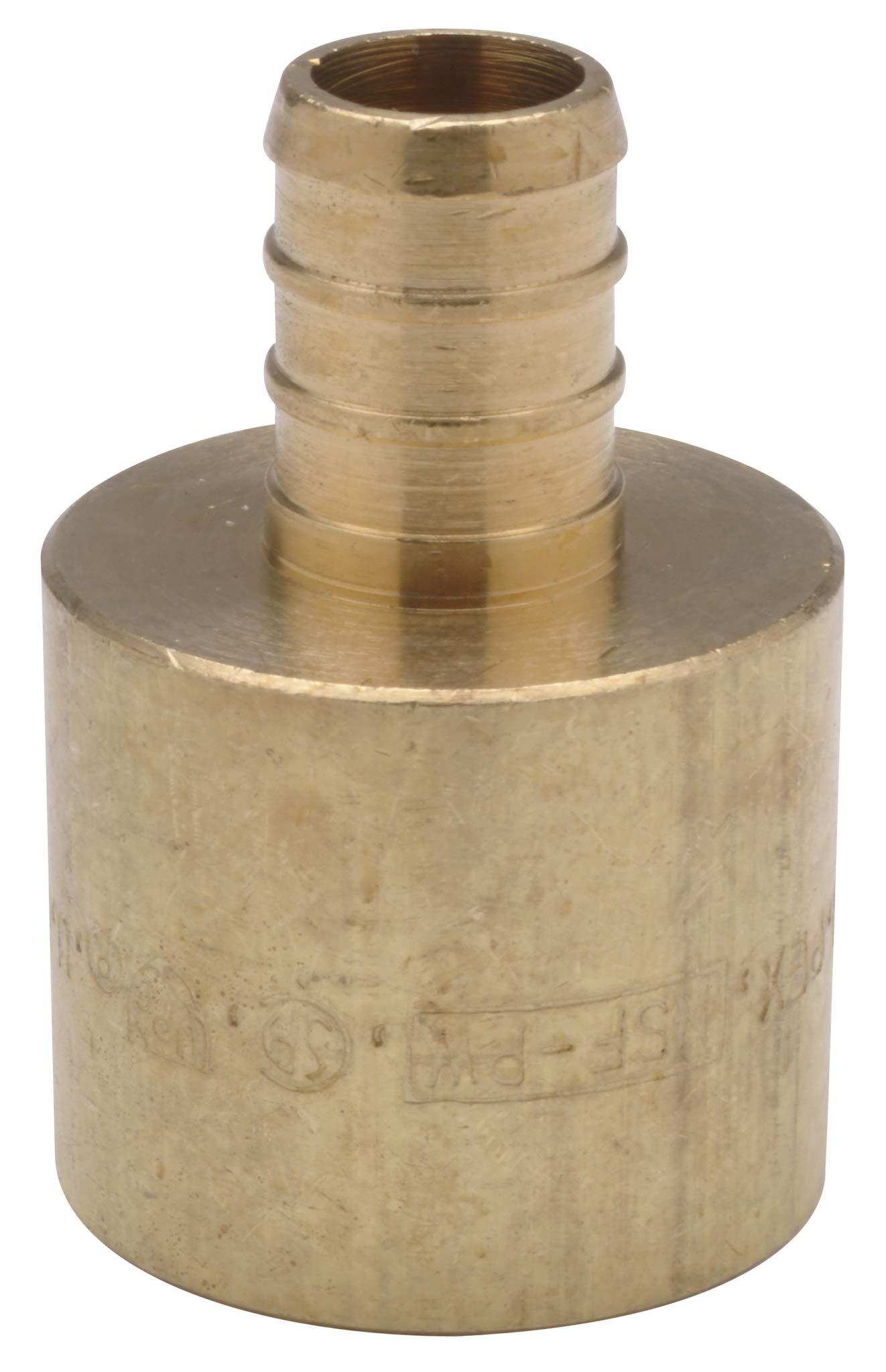 """Zurn QQ770CX Crimp Female Sweat Adapter, Small Diameter, 3/4"""" Female Sweat x 1/2"""" Barb, Copper (Pack of 25)"""