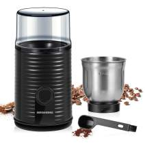 REDMOND Coffee Grinder, 160W Electric Coffee Bean and Spice Grinder with 80g Detachable Stainless Steel Bowl for Dry or Wet Grinding, Cleaning Brush Included, CG004