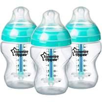 Tommee Tippee Advanced Anti-Colic Baby Bottle Feeding Set, Heat Sensing Technology, Breast-like Nipple, BPA-Free - 9 ounce, 3 Count