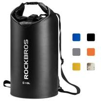 ROCKBROS Waterproof Dry Bag Backpack 2L 5L 10L 20L 30L Storage Bag for Boating Kayaking Swimming Floating Outdoor Backpacking