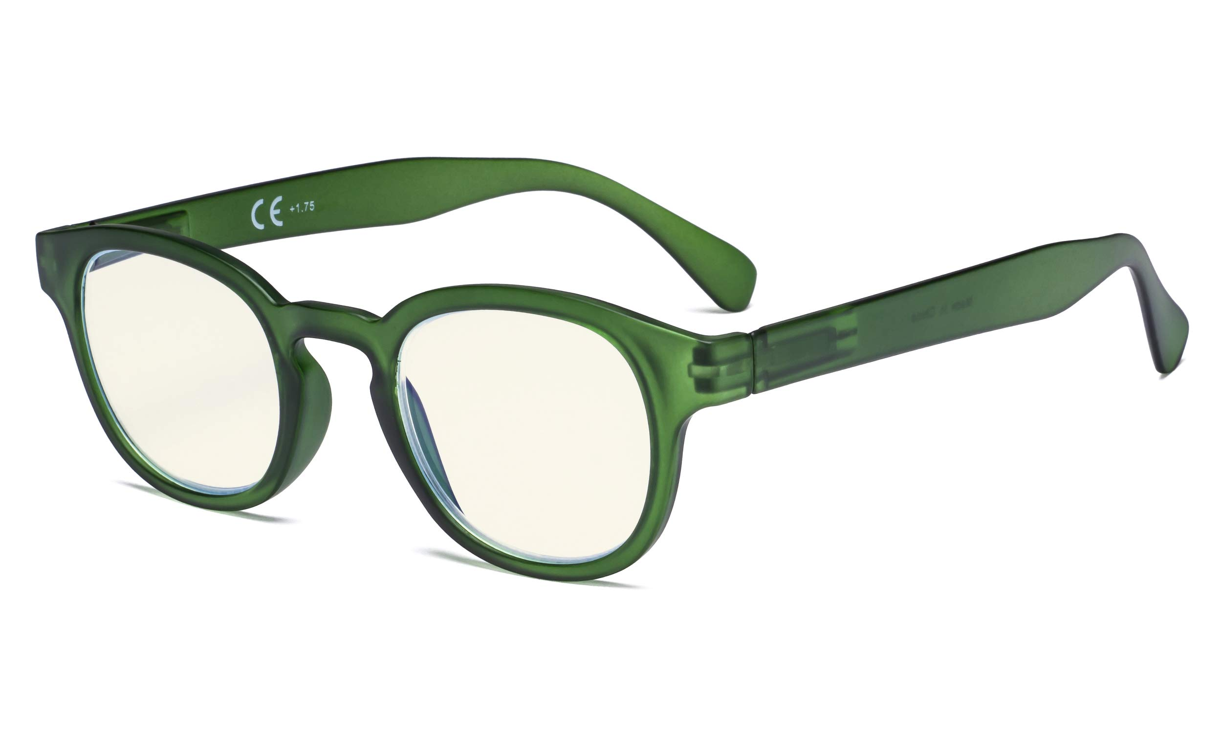 Eyekepper Ladies Computer Glasses - Blue Light Filter Readers Women - UV420 Protection Anti Glare Reading Glasses - Dark Green +1.75