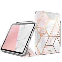 """i-Blason Case for New iPad Pro 11 Inch Case 2018 Release, [Cosmo] Full-Body Trifold Stand Protective Case Cover with Auto Sleep/Wake & Pencil Holde, Marble, 11"""""""