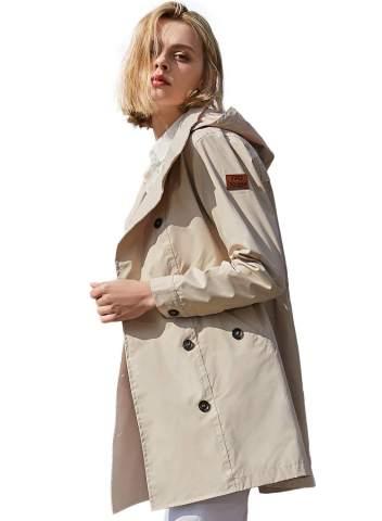 Plus Size Outdoor Waterproof Lightweight Rain Jacket Hooded Raincoat Women Coats