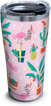 Tervis 1312689 Tropical Holiday Pattern Insulated Tumbler with Lid, 20 oz, Silver