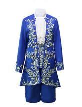 Ainiel Men's Prince Deluxe Blue Uniform Cosplay Costume Outfit Suit