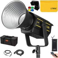 Godox VL200 LED Video Light,200W 5600K Bowens Mount Continuous Video Light,CRI 96 TLCI 95 0-100% Dimming,6 Groups 16 Channels,Wireless Radio Remote+Godox BD-04 Barn Door and 4 Color Gel Filters Kit