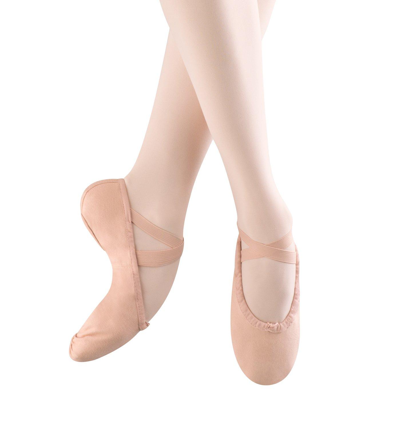 Bloch Girls Pump Split Sole Canvas Ballet Shoe/Slipper, Pink,