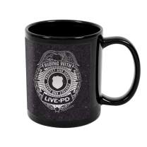 Live PD Badge Black Mug 15 oz