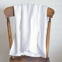 VHC Brands Farmhouse Bedding - Baby White Blanket, 48x36