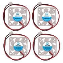 WINSINN 40mm Color LED Fan 24V Hydraulic Bearing Brushless 4010 40x10mm - High Speed (Pack of 4Pcs)