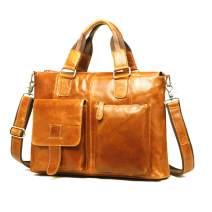 Dr. Anison Vintage Genuine Leather Laptop Briefcase for Men …