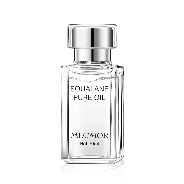MECMOR Face Moisturizer Squalane Oil 1 oz 30 ml Skin Care Repair Serum Hydrating Rejuvenating Recover Redness Additive Free for Face Body Skin Hair Natural Organic Nourish Dry Sensitive Skin