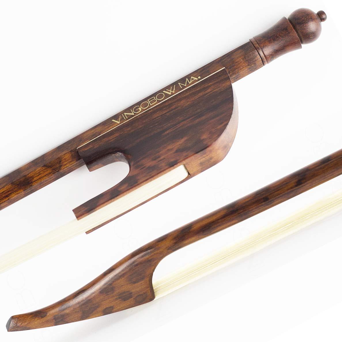 VINGOBOW 4/4 Size Snake Wood Baroque VIOLIN BOW, Warm Tone and Well Balanced, Art No. 610V