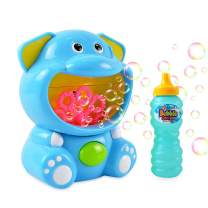 Kimiangel Bubble Machine Toys Automatic Bubble Blower for Kids Portable Bubble Maker 500 Bubbles per Minute, with Bubble Solution, Easy to Use for Parties, Wedding, Indoor and Outdoor Activities