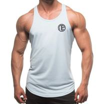 Men's Cotton String Tank Top Dri-Fit Bodybuilding Sleeveless Y-Back Muscle Vest