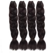 UHair Light Black Kanekalon Braiding Hair Extensions Jumbo Braid Crochet Colorful Hair High Temperature Synthetic Fiber Hair Extension for Women(100G/pc, 3 pcs/lot)