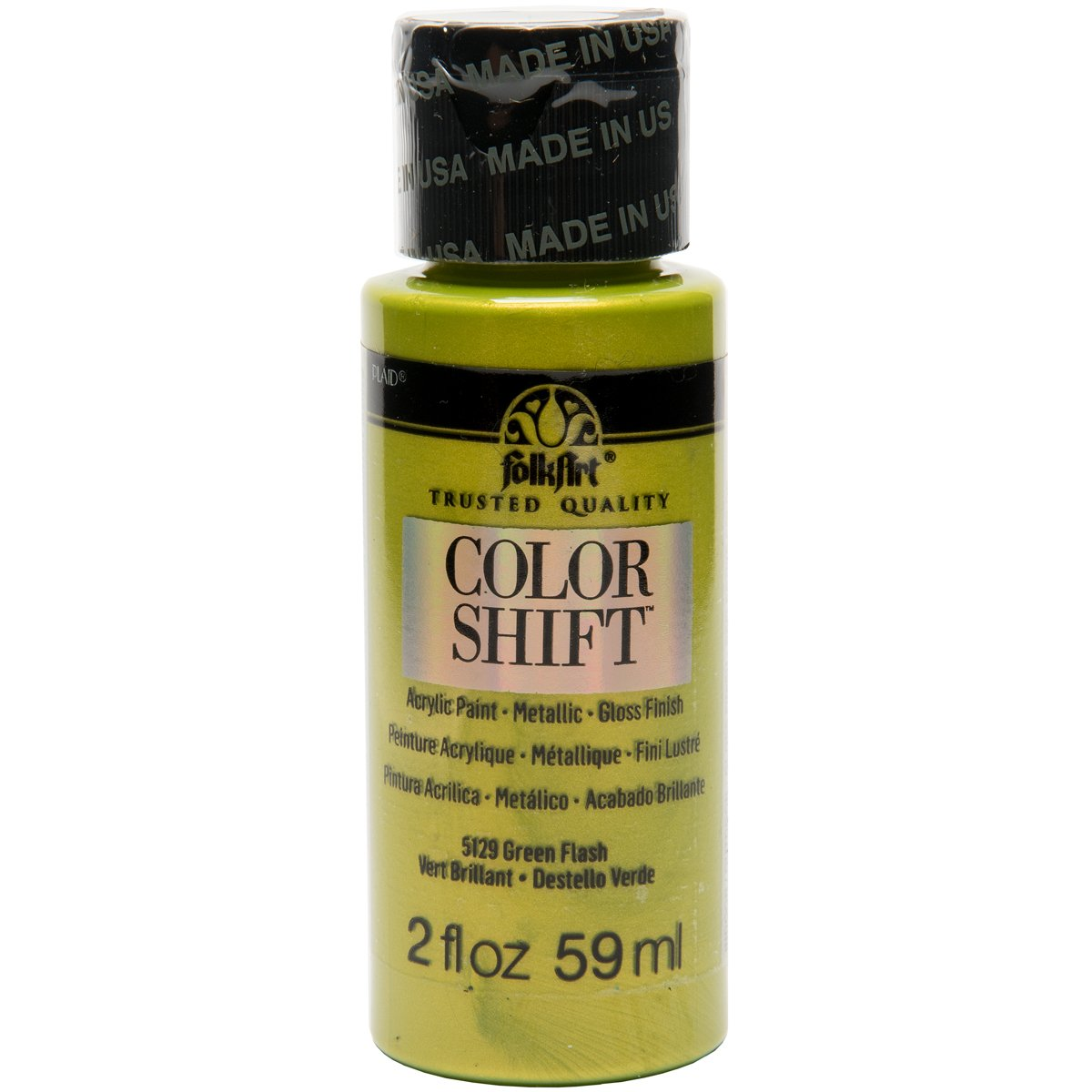 FolkArt Color Shift Acrylic Paint in Assorted Colors (2 ounce), Green Flash