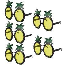 kilofly Pineapple Sunglasses Hawaiian Luau Summer Pool Party Favor Photo Props