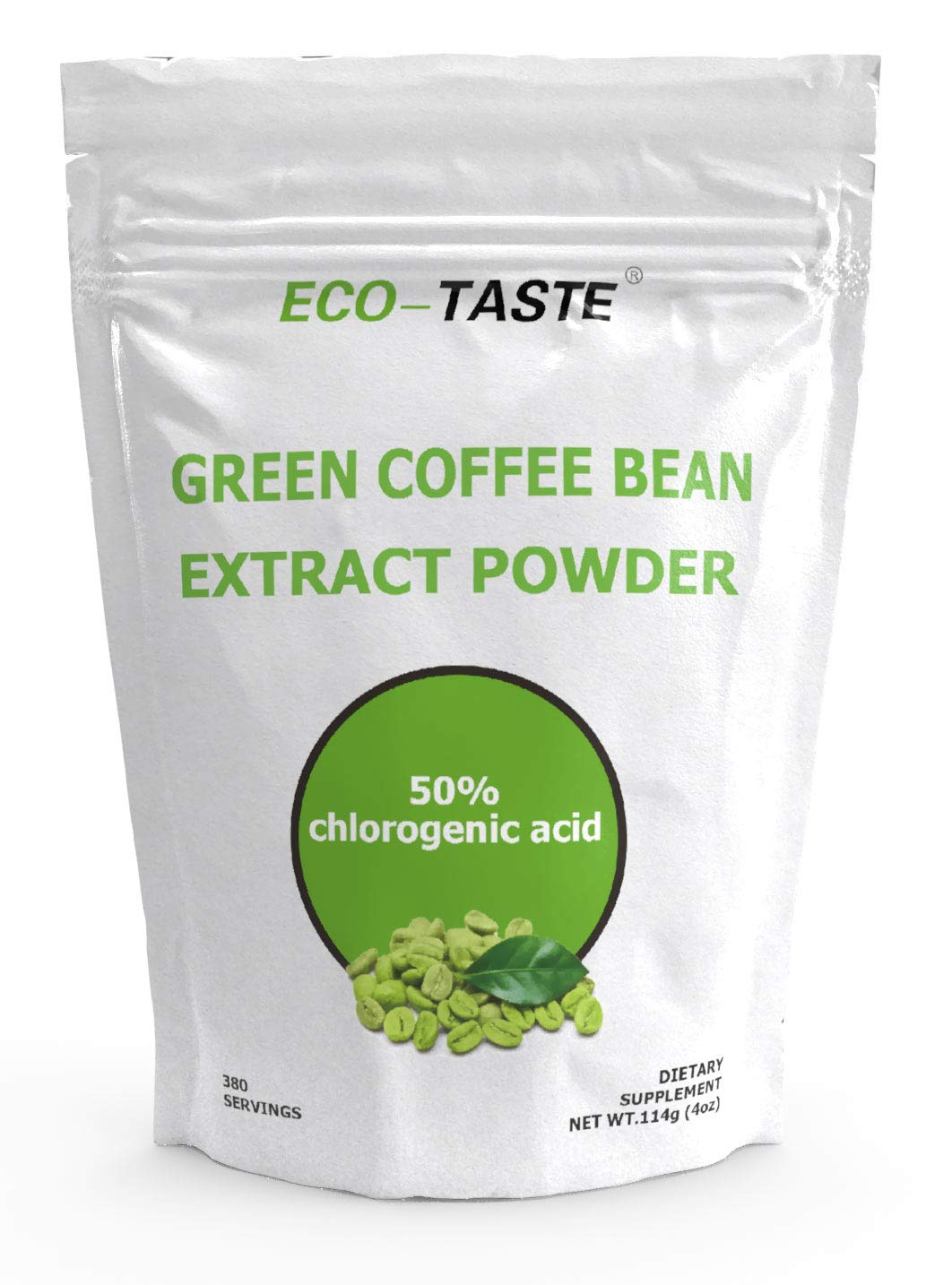 Green Coffee Bean Extract Powder for Improved Metabolism and Fat Burn, 50% Chlorogenic Acid, 114g