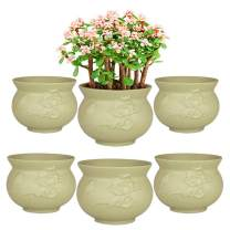 TOPtoper 4 Inch Terracotta Planter Pots 6-Pack Succulent Planter Clay Pots for Indoor/Outdoor Plants, DIY Craft Projects, Wedding and Party Favors