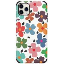 CUSTYPE iPhone 11 Pro Max Case Floral Print Flower Watercolor Pattern Cover Case Soft TPU Slim Shockproof Back Shell Case for iPhone 11 Pro Max 6.5 inch Pink (Flower-01)