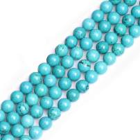 GEM-inside Turquoise Gemstone Loose Beads Dyed Energy Power Beads For Jewelry Making 10mm Round 15 Inches