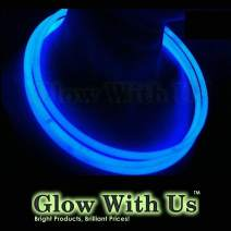 """Glow Sticks Bulk Wholesale Necklaces, 200 22"""" Blue Glow Stick Necklaces+200 Free Glow Bracelets! Bright Color, Glow 8-12 Hrs, Connector Pre-Attached(Time Saver), Sturdy Packaging, GlowWithUs Brand"""
