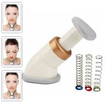 Neckline Slimmer & Toning Massager System, Double Chin Remover Facial Neck Line Exerciser Chin Massager, Face Lift Thin Jawline Double Chin Reducer, 100 Pcs Cotton Swabs, Workout for Men and Women