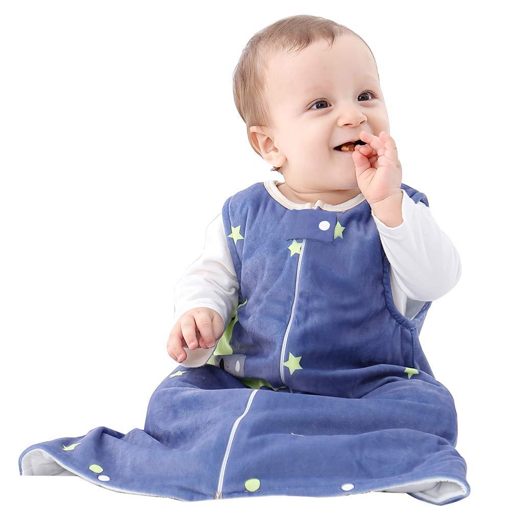IDGIRL Toddler Sleep Bag,Fleece Wearable Blanket Sleeveless 2-3 Years Soft Warm,Blue Bear