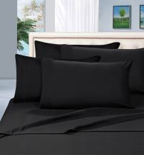 Elegant Comfort 1500 Thread Count Wrinkle & Fade Resistant Egyptian Quality Hypoallergenic Ultra Soft Luxurious 2-Piece Pillowcases, King Size, Black