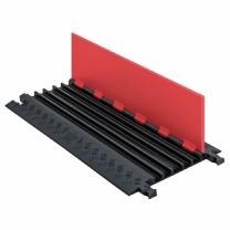 """Guard Dog GD5X75-ST-O/B Polyurethane Heavy-Duty 5-Channel Low-Profile Cable Protector with Standard Ramp, Orange Lid with Black Ramp, 36"""" Length x 16.9"""" Width x 1.25"""" Height"""