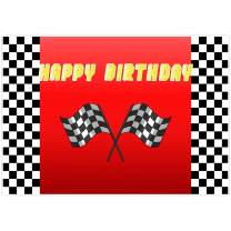 Allenjoy 7x5ft Red Car Racing Themed Backdrop Supplies Black and White Plaid Flags for Photography Newborn Kids Baby Shower 1st Boys Birthday Party Decorations Children Cake Smash Photoshoot Props