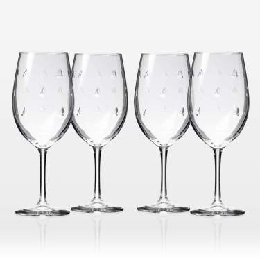 Rolf Glass Sailing All Purpose Wine Glass 18 Ounce Set Of 4 Large Wine Glasses Lead Free Crystal Glass Engraved Large Wine Glasses Made In The Usa