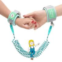 Anti Lost Wrist Link, Beyuched Wrist Leash for Kids- Child Outdoor Safety Hook and Loop Wristband Kid Leash Child Safety Harness for Kids and Toddlers (Green)