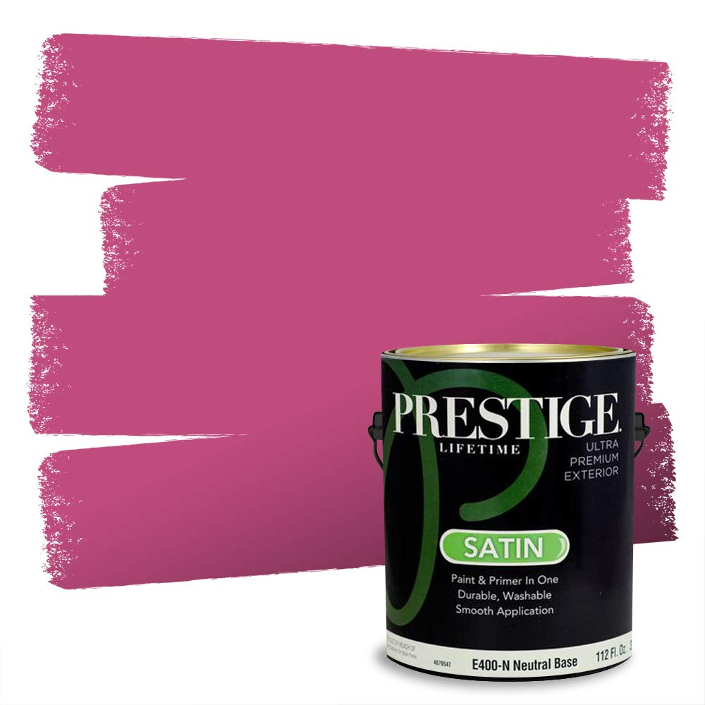 Prestige Exterior Paint and Primer in One, Exotic Bloom, Satin, 1-Gallon
