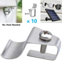 No Hole Needed Vinyl Siding Clips for Solar Panel and Wireless Security Cameras, Outdoor Surveillance System Hanger Hooks for Mounting Solar Powered Panel and WiFi Home Outside Cam, Easy Reposition