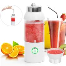 POWERAXIS Portable Blender USB Rechargable, 550ML Mini Blender Juicer Cup, Fruit Juice Mixer with Stainless Steel Blades and USB Charging Cable for Shakes and Smoothies