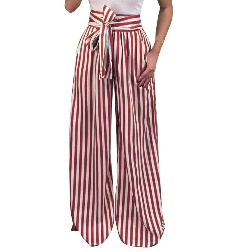 LISTHA Striped Polka Dot Wide Leg Pants for Women Plus Size Palazzo Trousers