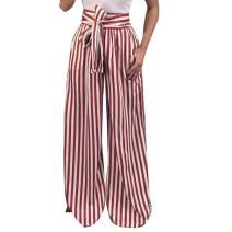 LISTHA Striped Polka Dot Wide Leg Pants for Women Plus Size Palazzo Trousers