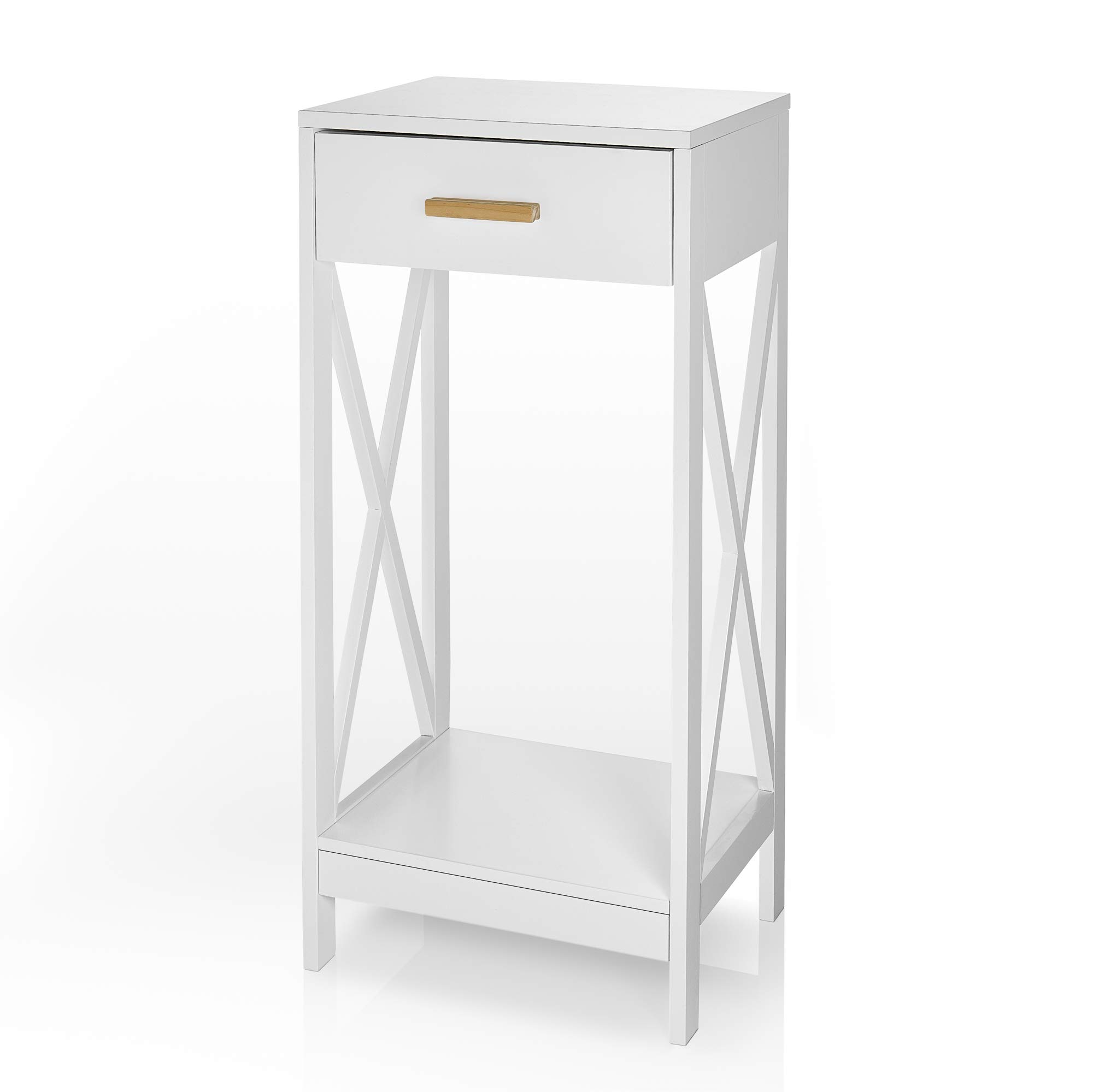 Prosumer's Choice Modern Side Table and Nightstand w/ Single Drawer Storage