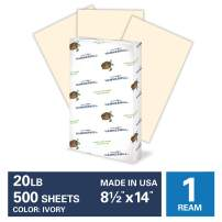 Hammermill Ivory Colored 20lb Copy Paper, 8.5x14, Legal Size, 1 Ream, 500 Total Sheets, Made in USA, Sustainably Sourced From American Family Tree Farms, Acid Free, Pastel Printer Paper, 103143R