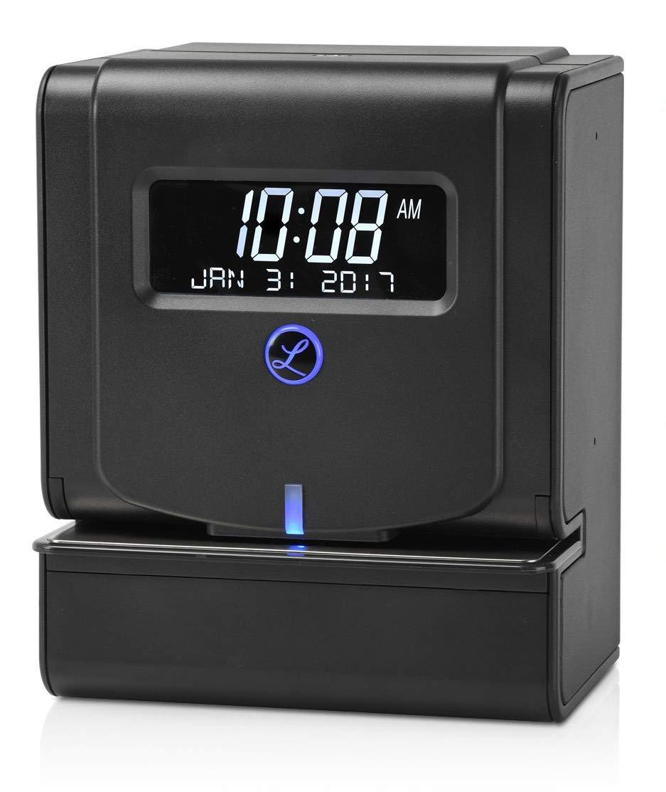 "Lathem Heavy Duty Maintenance-Free Thermal Print Time Clock (2100HD), Black, 9.8"" x 6"" x 8"""