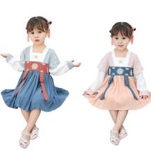Cosplay Life Childrens Chinese New Year Dress Short Sleeve Cheongsam Hanfu Dress Cute Costume for Girls