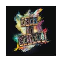 Baocicco 5x5ft Back to School Backdrop Grunge Backdrop Black Background Paint Photography Background Wallpaper Decor School Opening Day New Term Children Students Portrait Studio Video Prop